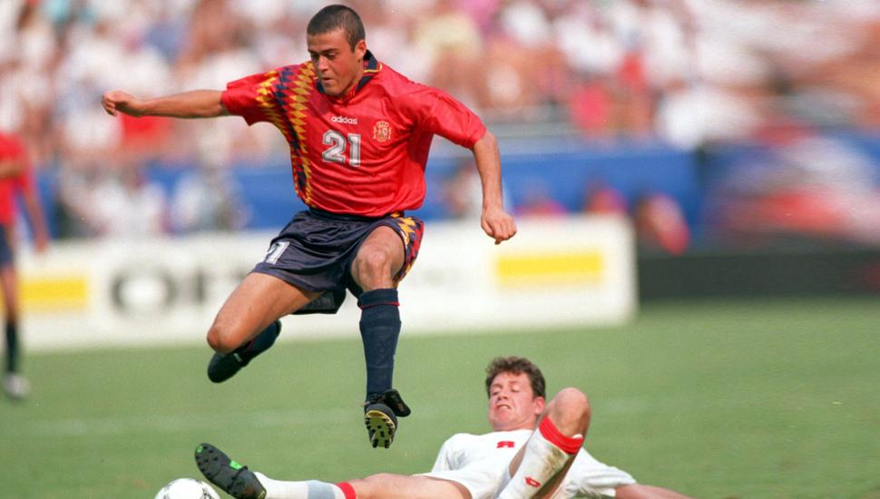 Camisa da seleção espanhola com Luis Enrique