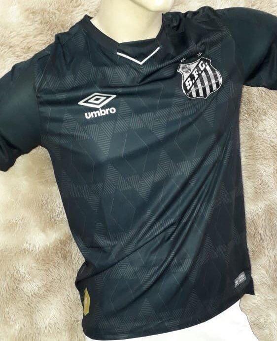 Parte frontal da nova camisa 3 do Santos