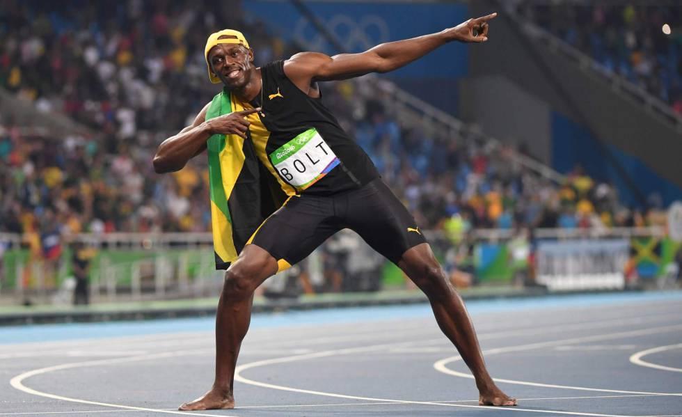 Usain Bolt e sua famosa comemoração