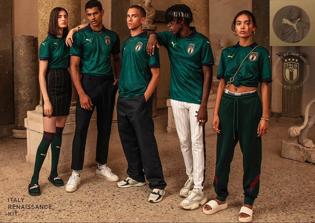 A nova camisa verde da Itália é estilosa e muito bonita