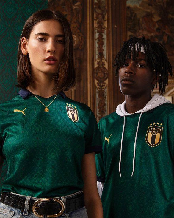 Nova camisa da Itália é verde, inspirada no Renascimento italiano