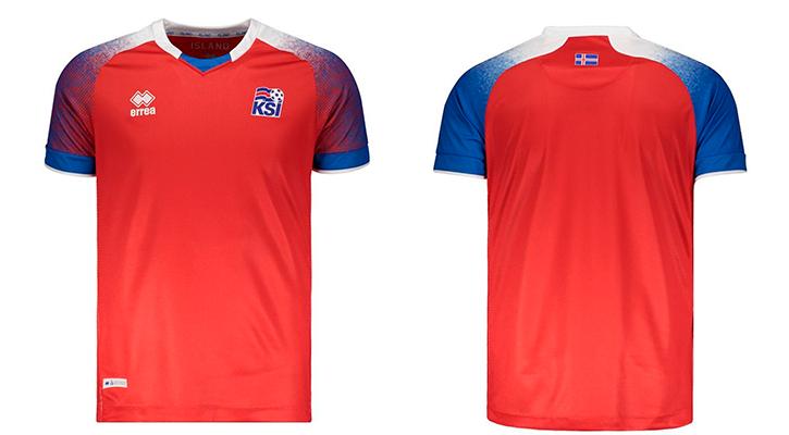 Camisas de times em promoção: Islândia