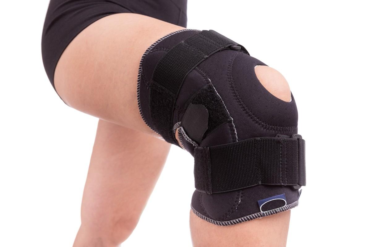 Como usar joelheira com orifício