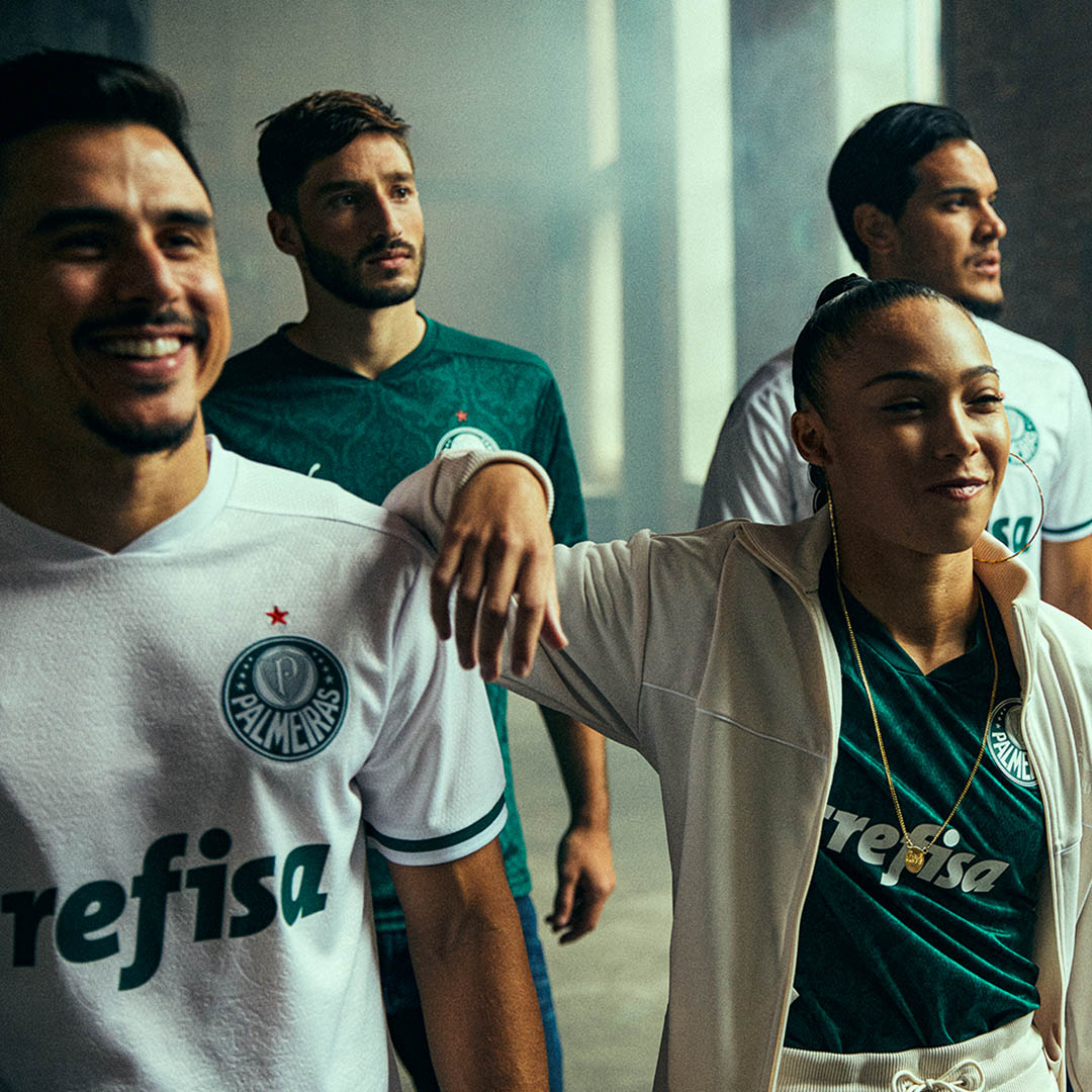 Nova camisa do Palmeiras, titular e reserva
