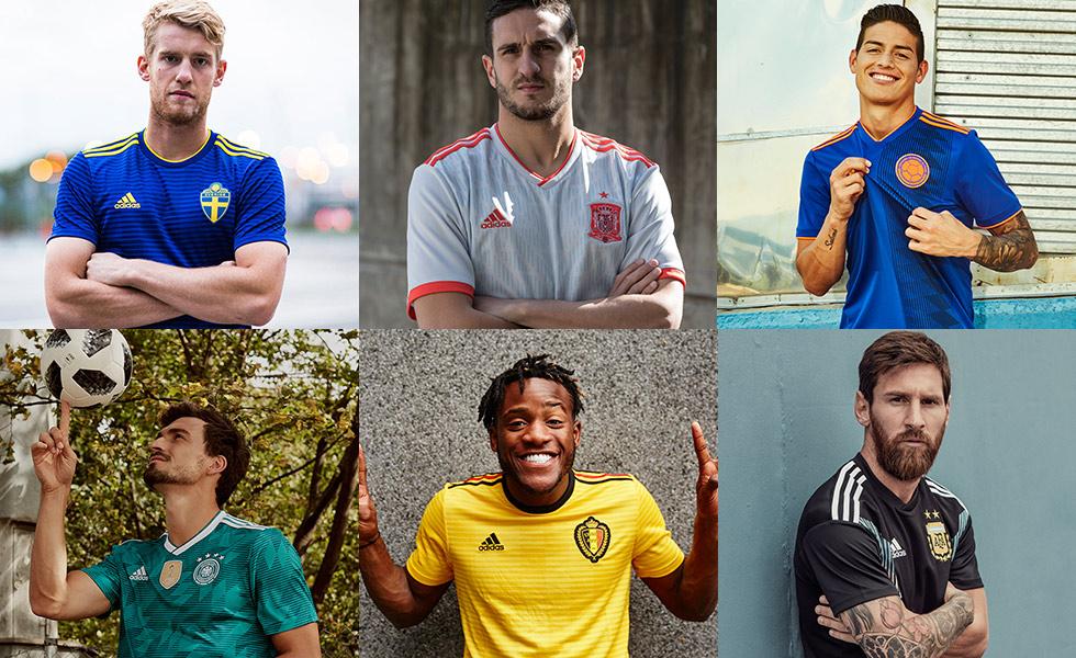 b10ba8a40 Segunda camisa das seleções da Adidas para Copa de 2018. Confira!