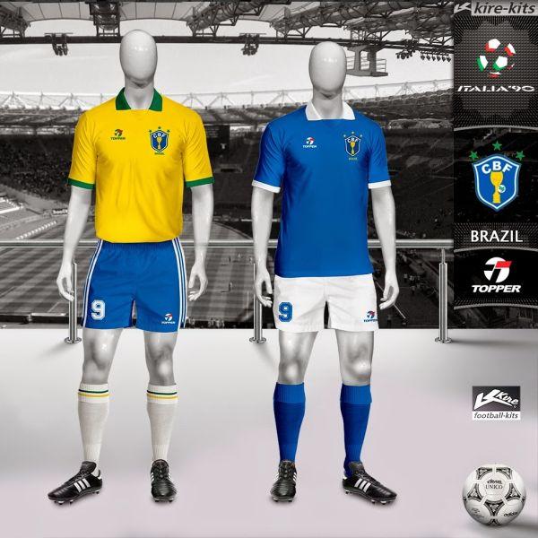 Os marcantes uniformes da Copa de 90 05d4c0a656cff