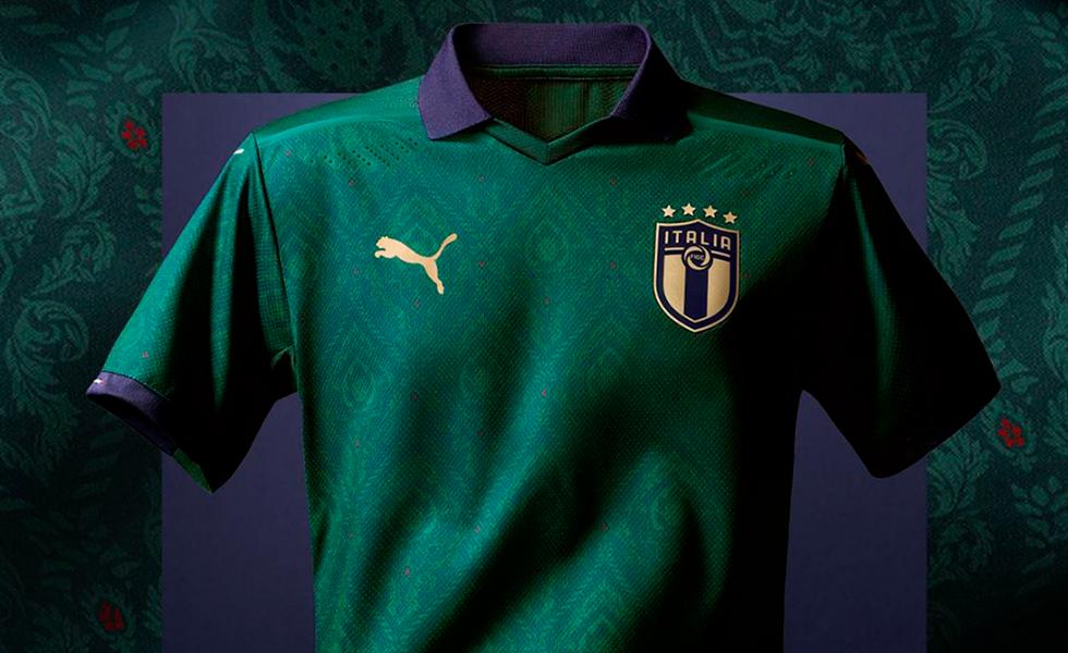 Nova camisa da Itália é verde